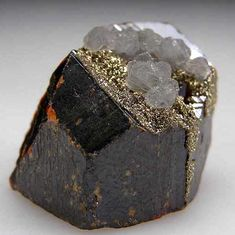 Sphalerite with Pyrite and Calcite  from Merelani Hills, Lelatema Mtns., Arusha Region, Tanzania