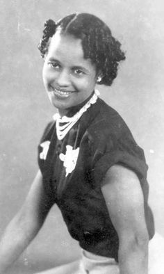 Photographer Myrtie Mims, 1950s. She was a pioneer of sorts; being one of the few African American women in the field as a professional but also the owner of her own studio in Nacogdoches, Texas.