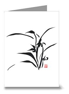 Orchid Card 02  Meditation Art  Peaceful Art  by CollarCityStudios, $4.00