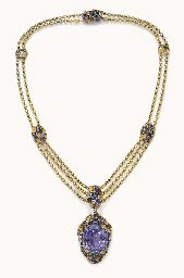 Sapphire and Gold Necklace Louis Comfort Tiffany, 1910