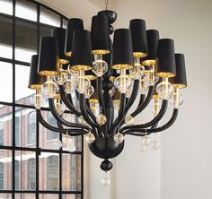 Black chandelier lyrics cudne wnetrza pinterest chandelier black glass modern murano chandelier with black lampshades aloadofball Gallery