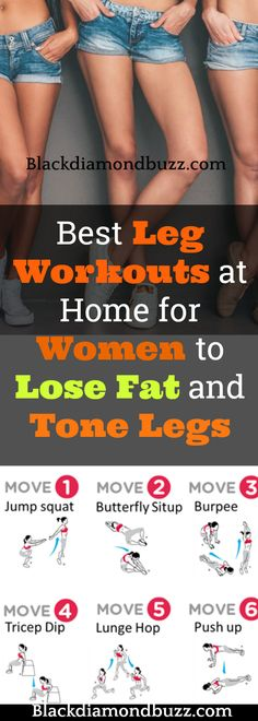 Best Leg workouts at home for women to lose fat, inner thigh fat, get tiny waist, thigh gap and tone legs fast without weight.
