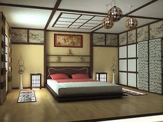 Modern Bedroom Design within Japanese Bedroom Theme