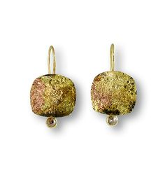 Raw Diamond Earrings by Susan Ronan: Gold, Steel, and Stone Earrings available at www.artfulhome.com