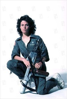 Ripley / Alien. Sigourney Weaver rocks as Ripley...and in anything else she does! Talented, smart, sexy and not afraid to play the girlfriend, the heroine, or just the lady who can translate what the computer is saying (Galaxy Quest) and so much more.