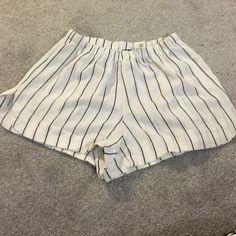 Brandy Melville Striped Shorts Has pockets! Includes free stickers, NWT Brandy Melville Shorts
