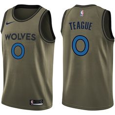 Nike Timberwolves  0 Jeff Teague Green Salute to Service NBA Swingman Jersey  Basketball Plays 6191eae2a