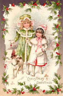 Clearly Vintage: Christmas Postcards