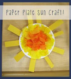 Paper Plate Sun Craft for Kids Fun spring or summer craft for kids to brighten up your classroom on those cloudy and rainy days!mpmschoolsupp The post Paper Plate Sun Craft for Kids appeared first on Paper Ideas. Preschool Weather, Preschool Crafts, Kids Crafts, Craft Kids, Kids Fun, Daycare Crafts, Classroom Crafts, Science Classroom, Classroom Resources
