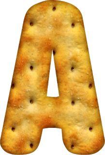 Alfabeto Decorativo: Alfabeto - Biscoito Cream Cracker 3 - PNG - Letras...