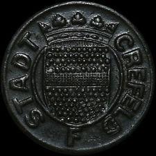 NOTGELD: 10 Pfennig 1919, Zink. Funck 84.7A.b. CREFELD / RHEINPROVINZ (KREFELD).