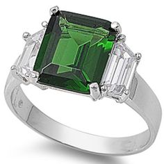 Princess Cut Simulated Emerald & White Cubic Zirconia Ring Sz 5	by Oxford Diamond Co - See more at: http://blackdiamondgemstone.com/colored-diamonds/jewelry/rings/statement/princess-cut-simulated-emerald-white-cubic-zirconia-ring-sz-5-com/#sthash.9LW1Ou7q.dpuf
