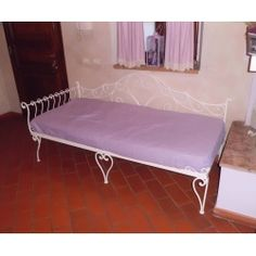 Wrought iron sofa bed. Customize Realizations. 932 Outdoor Furniture, Outdoor Decor, Sofa Bed, Wrought Iron, Sun Lounger, Home Decor, Staircases, Sleeper Couch, Sleeper Sofa
