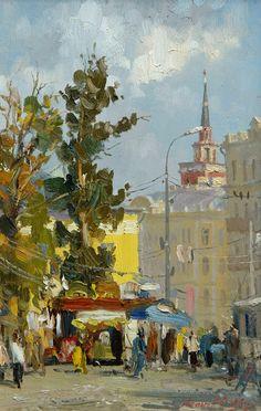 Leonov Oleg. Moscow. Kalanchevka square