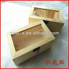 de madera caja de regalo con tapa con bisagras con tapa de vidrio de calidad superior-Caja-Identificación del producto:844512682-spanish.ali...