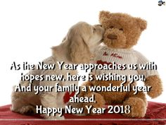 Happy New Year 2018 Quotes : QUOTATION – Image : Quotes Of the day – Description cute teddy bear wallpapers quotes 2017 Sharing is Power – Don't forget to share this quote ! Sweet Love Quotes, Wish Quotes, Love Quotes For Him, Happy Quotes, Happy New Year 2016, Happy New Year Wishes, New Years 2016, Cute Wallpapers Quotes, Wallpaper Quotes
