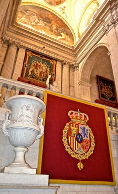 The Spanish Shield - Family adventure at the Royal Palace of Madrid http://travelexperta.com/2015/11/royal-palace-madrid-palacio-real-de-madrid.html