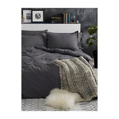 Simons Maison Frayed edges duvet cover set ($100) ❤ liked on Polyvore featuring home, bed & bath, bedding, duvet covers, king sham, king size bed linen, queen sham, king size pillow shams and king size bedding