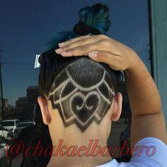 Flower with heart undercut Shaved Undercut, Undercut Long Hair, Undercut Hairstyles, Undercut Women, Haircuts, Hair Tattoo Designs, Tattoo Ideas, Shave Designs, Undercut Hair Designs