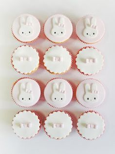 Cupcakes 1yr Old Birthday Ideas, 1 Year Old Birthday Party, First Birthday Decorations, Bunny Birthday, Girl Birthday Themes, First Birthday Cakes, Birthday Cake Girls, First Birthday Parties, First Birthdays