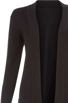 People Tree | Riva Long Line Cardigan in Black