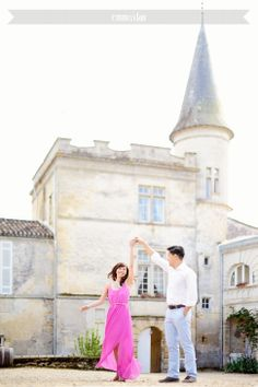 Rebecca & Fang – photo session before the wedding {Bordeaux, France} Chateau Lagorce Romantic french destination photo session