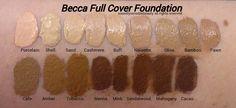 Becca Full Coverage Foundation/Becca Ultimate Coverage Foundation