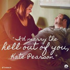 """When Toby says, """"I'd marry the hell out of you, Kate Pearson. Best Tv Shows, Best Shows Ever, Movies And Tv Shows, Favorite Tv Shows, Favorite Things, This Is Us Characters, Vacation Humor, Vacation Ideas, Big Three"""