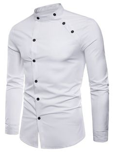 New fashion male autumn High-grade pure cotton slim Fit Business shirts/men Stand collar Casual long sleeve shirts Fashion Male, Nigerian Men Fashion, Big Men Fashion, Indian Men Fashion, Mens Fashion Wear, Fashion Menswear, Fashion Ideas, African Shirts For Men, African Clothing For Men