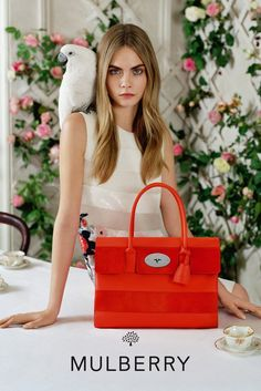 A look at the new Mulberry campaign featuring Cara Delevingne. [Photo by Tim…