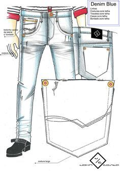 Croquis Masculinos - Verão 2017 Biker Jeans, Denim Jeans Men, Fashion Model Drawing, Estilo Jeans, Types Of Jeans, Rainbow Fashion, Denim Fashion, Jeans Style, Shorts