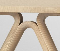 Muuto Split Table  furniture, interior design, dining table, joinery, wood connection, scandinavian design, design detail