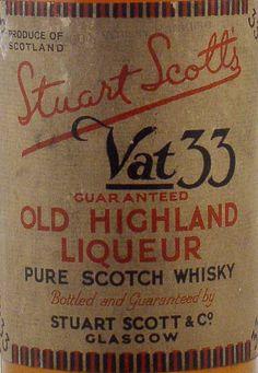 Stuart Scott's Old Highland Liqueur Typography Love, Vintage Typography, Typography Letters, Graphic Design Typography, Lettering Design, Hand Lettering, Logo Design, Vintage Labels, Vintage Ephemera
