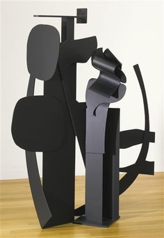 Louise Nevelson,  Black Flower Series VI 68 by 55 1/2 by 28 in. Painted aluminum 1973