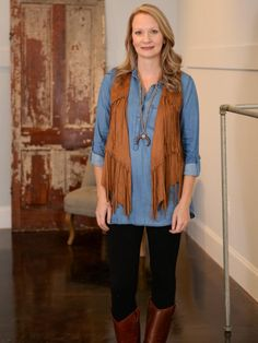 The Shelby Fringe Vest