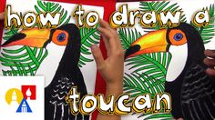 Get a marker and some paper and follow along with us! Learn how to draw a realistic toucan. Here's more info about the oil pastels we use: http://artforkidsh...