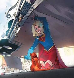 SUPERGIRL #4 variant cover guest-starring Streaky! (art by Bengal)