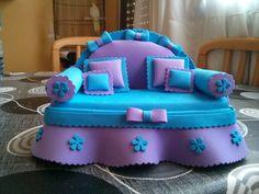 Sofa joyero de goma eva