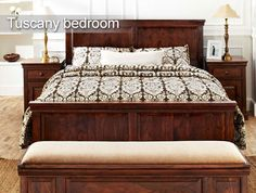#Tuscany Bedroom #Furniture   Countryside theme of this bedroom just would not stop you from getting more!!  To buy click the following link - http://www.inliving.com/tuscany-queen-bed