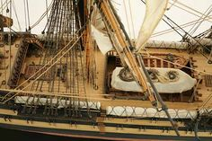 Close-up photos of ship model HMS Wellesley. HMS Wellesley was launched at Bombay in 1815 as a 74 gun ship. Old Sailing Ships, Close Up Photos, Hms Victory, Model Ships, Ship Of The Line, Submarines, Tall Ships, Fair Grounds, Travel