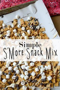 Simple S'Mores Snack Mix #Recipe
