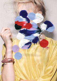 Série de peinture de Leslie David pour Please! Magasine, juin 2012