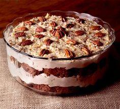 Chocolate Trifle, Chocolate Cake Mixes, German Chocolate, Chocolate Desserts, Trifle Desserts, Dessert Recipes, Trifle Cake, Dessert Food, Homemade Desserts
