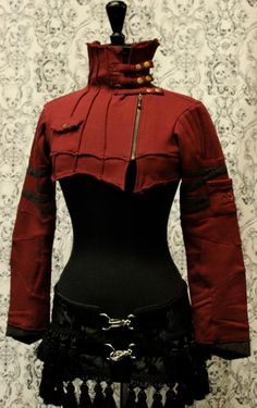 CYBER CROP JACKET - RED