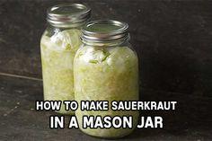 Sauerkraut in a Mason Jar