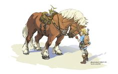 A little teamwork goes a long way! This was a collaborative effort with my colleague and fellow Zelda enthusiast Christie Tseng, portraying one of our favorite mechanics in the game…FEEDING THE ANIMALS! Legend Of Zelda Memes, Legend Of Zelda Breath, Animal Drawings, Cool Drawings, Character Art, Character Design, Link Art, Pokemon, Twilight Princess