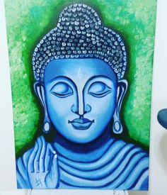 Budha painting :- handmade oil painting made by heena jain. It's made on canvas new creation.