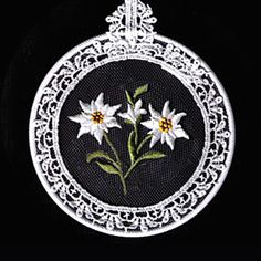 edelweiss hand embroidery pattern - Google Search