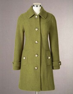 Boiled Wool Coat  Liking the WRAF look
