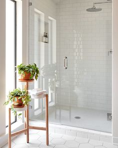 White bathroom tile | Joanna Gaines via Audrey Crisp on Instagram